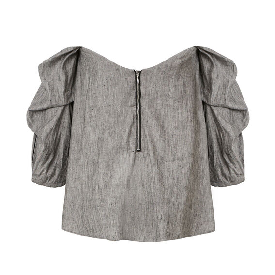 Chambray Off Shoulder Top