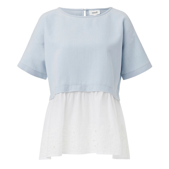 Oversized Lace Hem Top