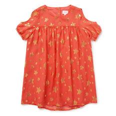 Star Cold-Shoulder Dress