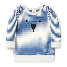 Bear Stripe Crew Sweater