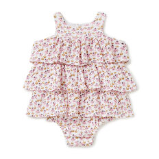 Ditsy Tiered Romper