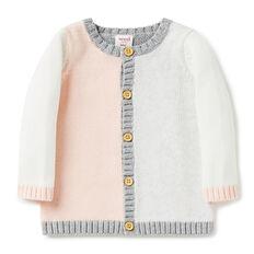 Colour Block Knit Cardigan
