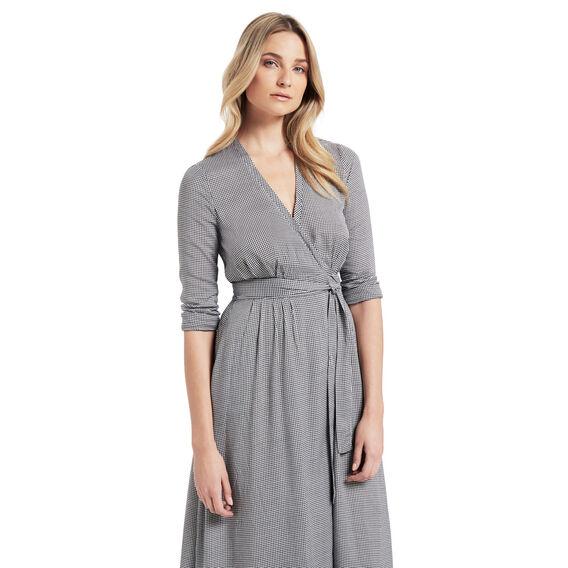Gingham Wrap Dress