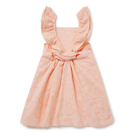 Broderie Cross-Back Dress