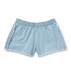 Fringe Chambray Shorts