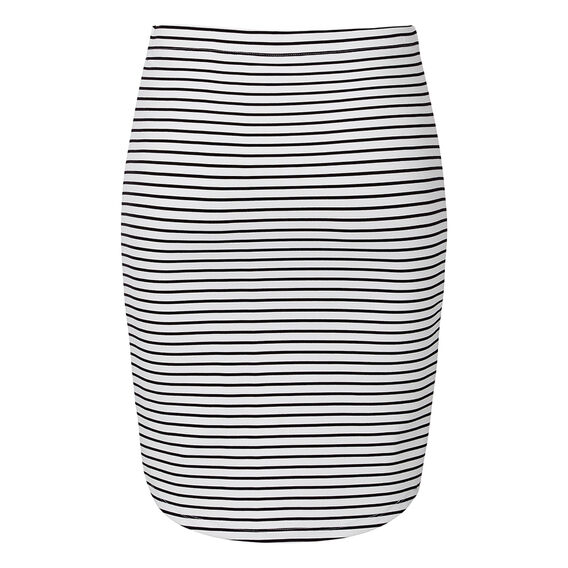 Stripe Scoop Skirt