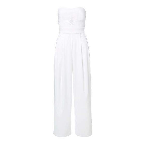 Strapless Flare Jumpsuit