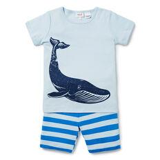 Stripe Whale PJ's