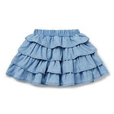 Chambray Ruffle Skirt