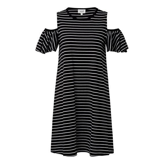 Stripe Frill Dress