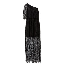 One Shoulder Lace Maxi
