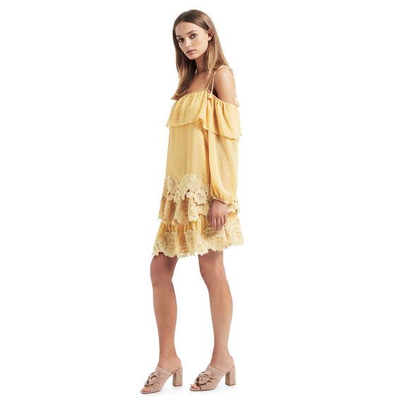 Dobby Lace Rah Rah Skirt