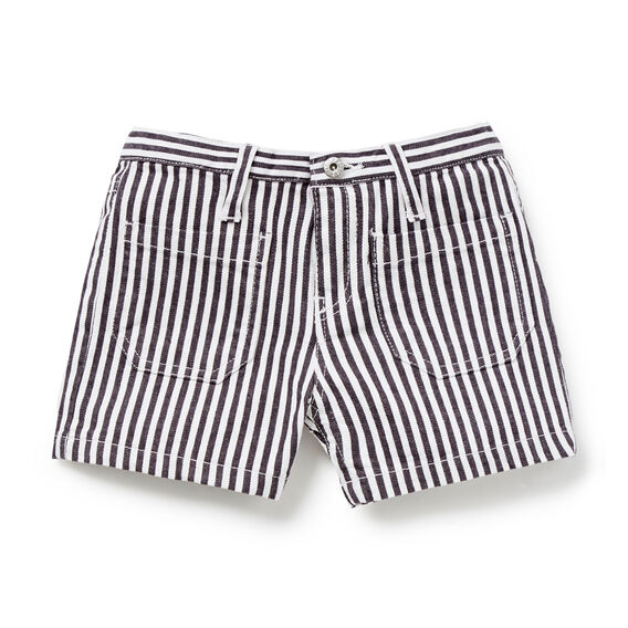 Stripe Denim Short