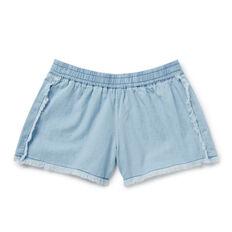Fringe Chambray Shorts