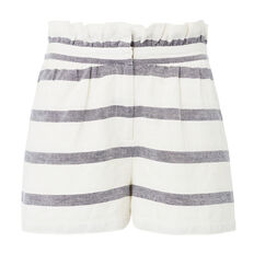 Stripe Gather Waist Short