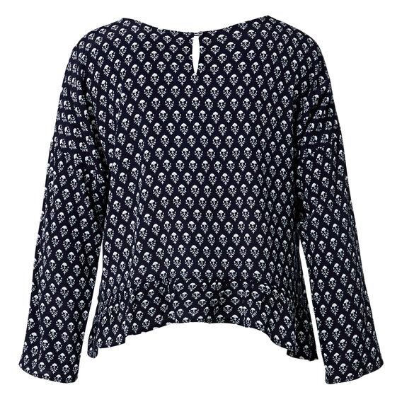 Batik Print Frill Top