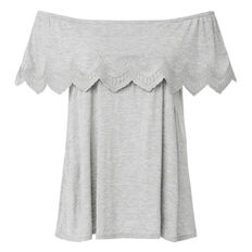 Embroidered Frill Top
