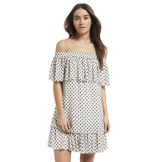 Dobby Off Shoulder Dress
