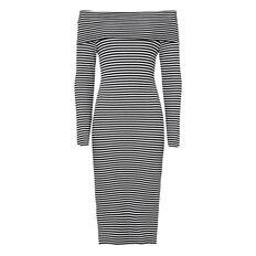 Stripe Off Shoulder Dress