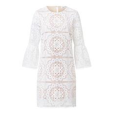 Lace Frill Shift Dress