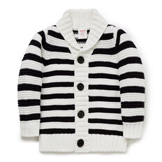 Reverse Stripe Shawl Cardigan