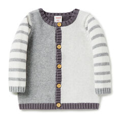 Colour Block Stripe Cardigan