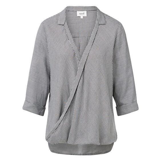 Gingham Wrap Shirt