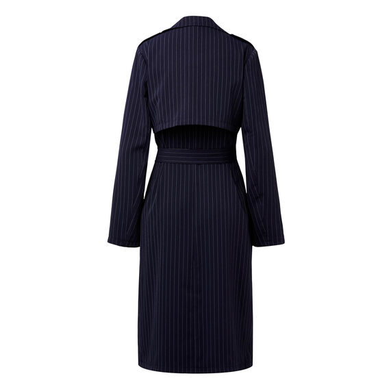 Pinstripe Trench