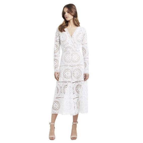Wrap Flare Lace Jumpsuit