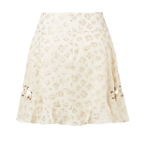 Ocelot Eyelet Tie Skirt