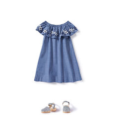 Off-Shoulder Embroidered Dress