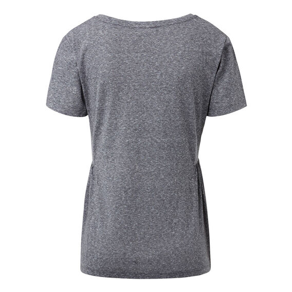 Marled Side Frill Tee