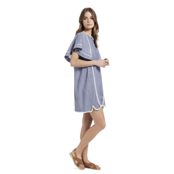 Cross Dye Crochet Dress