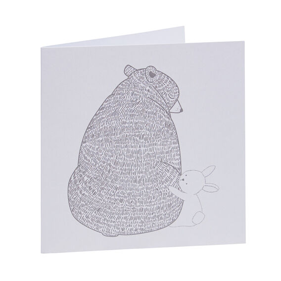 Bear And Baby Rabbit Card