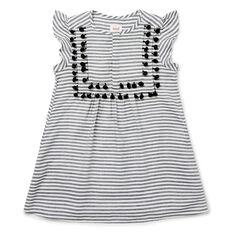 Stripe Pom Pom Dress