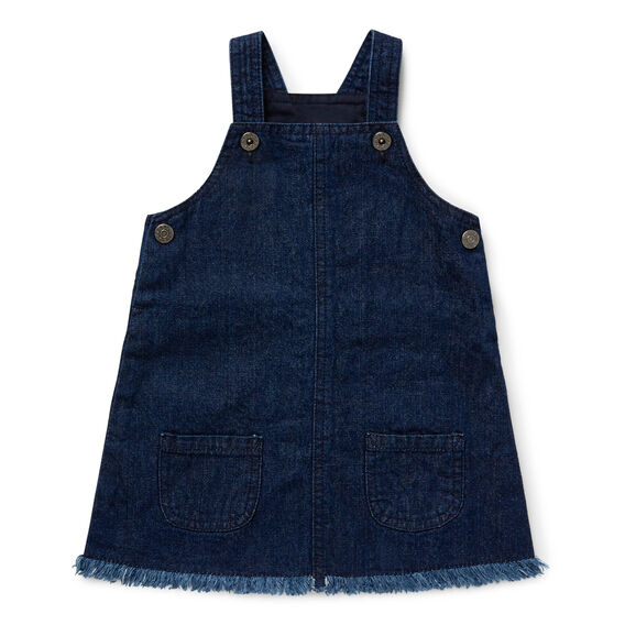 Raw Hem Denim Pinafore