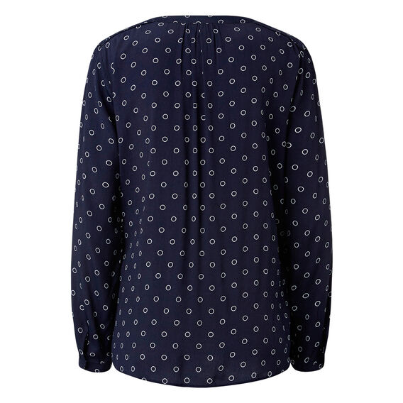 Twin Spot Wrap Shirt