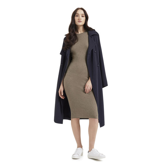 Cold Shoulder Rib Dress