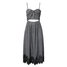 Embroidered Peek a Boo Dress