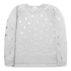 Star Split Hem Sweater