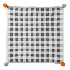 Gingham Pom Pom Blanket