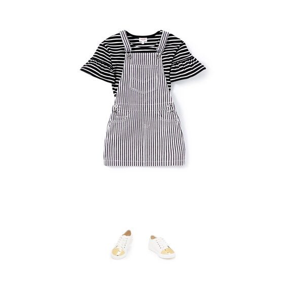 Stripe Denim Pinafore