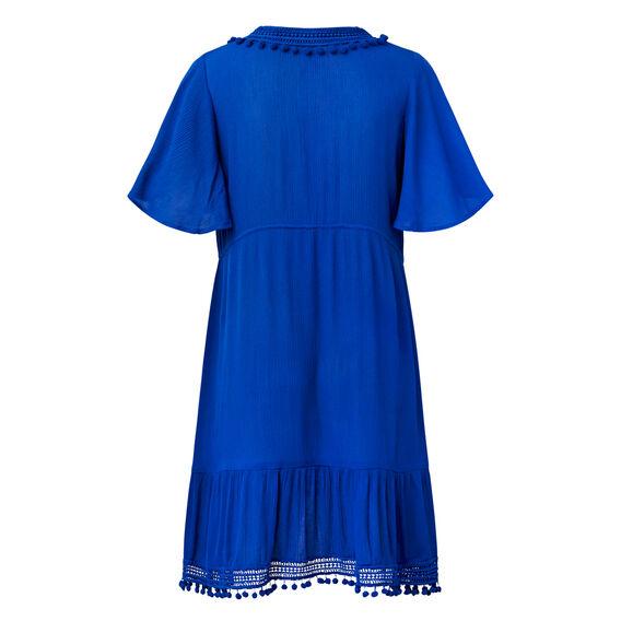 Pom Pom Trim Dress