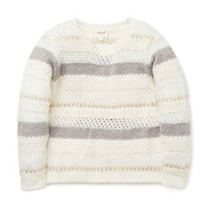 Fluffy Lurex Stripe Sweater