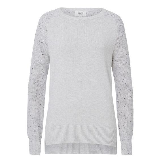Speckle Splice Sweater