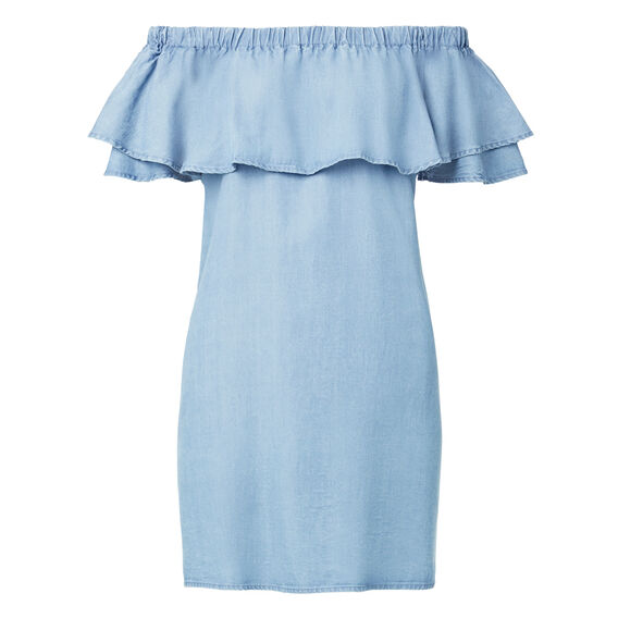 Tencel Off Shoulder Dress