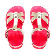 Metallic Cris Cross Sandal