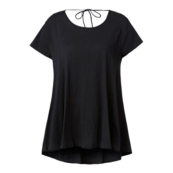 Open Back Slubby Tee