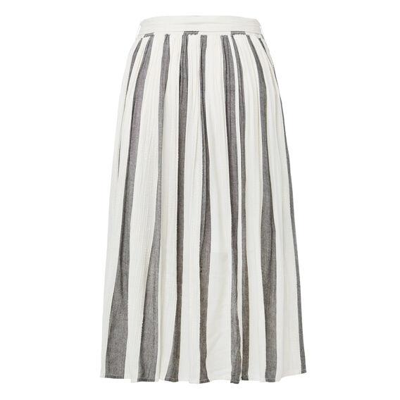 Stripe Midi Skirt