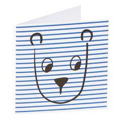Stripe Bear Card